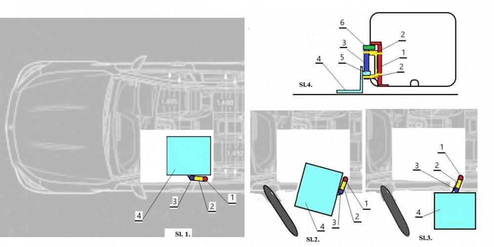 Platforma za unošenje invalida, invalidskih kolica, ili skutera sa fiksnim okvirom u automobil