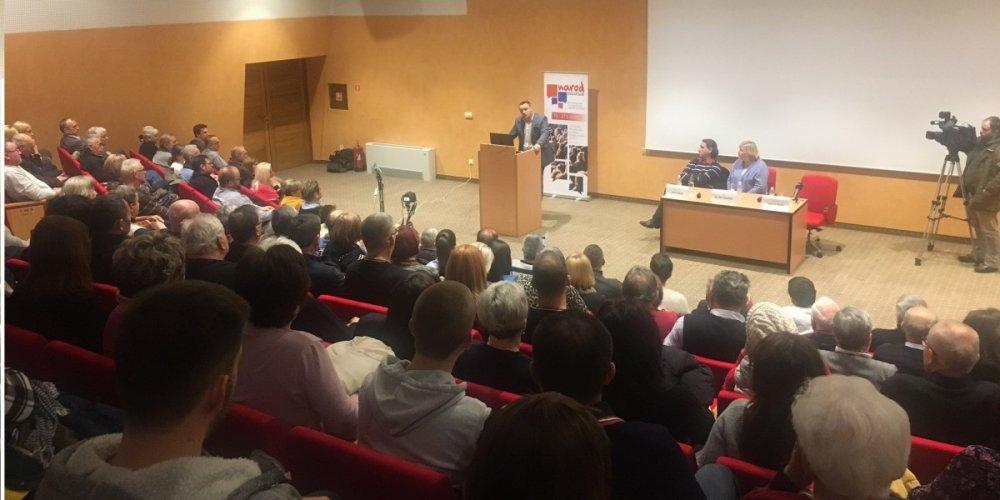 Dr. Ivica Šola, Željka Markić i dr. Mate Palić održali tribinu o referendumu za pravedniji izborni sustav