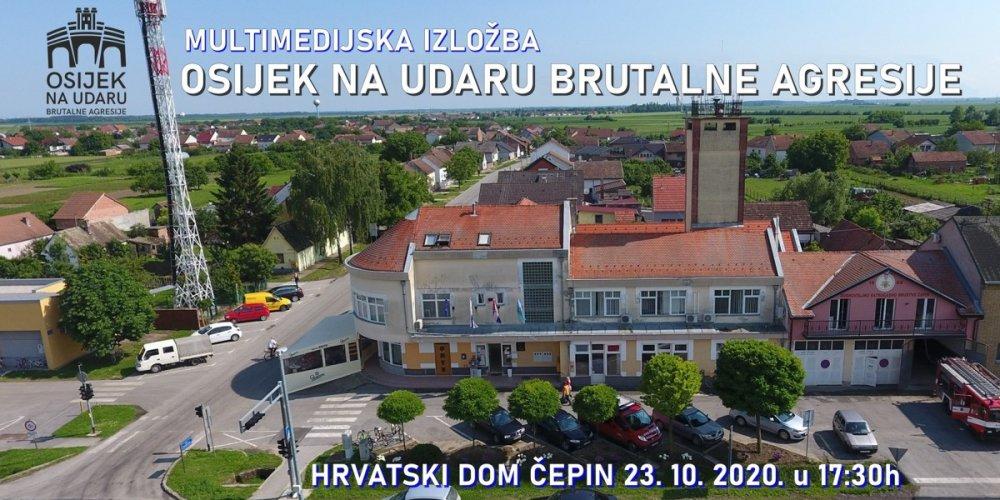 Svečano otvorenje izložbe o agresiji na Osijek 23. listopada u Hrvatskom domu Čepin