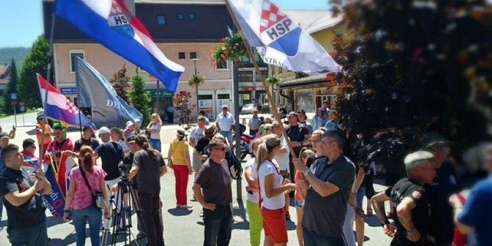 HSP održao protumigrantski prosvjed u Delnicama