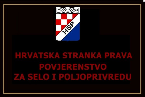 'Hrvatska stranka prava' najavljuje regionalnu panel diskusiju na temu: 'Razvoj poljoprivrede nakon pandemije COVID – 19.: Novi pogled na razvoj ekološke proizvodnje'