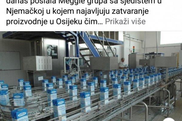 Meggle zatvara proizvodnju u Osijeku, župan Anušić dopisom se obratio i predsjedniku Uprave Meggle grupe Matthiasu Oettelu i zatražio hitan sastanak u Osijeku ili u sjedištu Meggle grupe u Wasserburgu