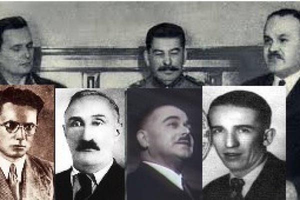 Tito,  Filipović, Kopinić, Gorkić, Kardelj, Krajačić, Mustafa Golubić i ostali komunistički teroristi u Kraljevini SHS
