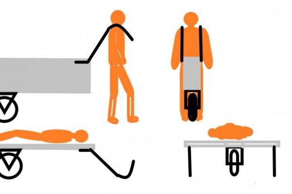 Transportna torba - mobilni ležaj za izletnike i vojnike