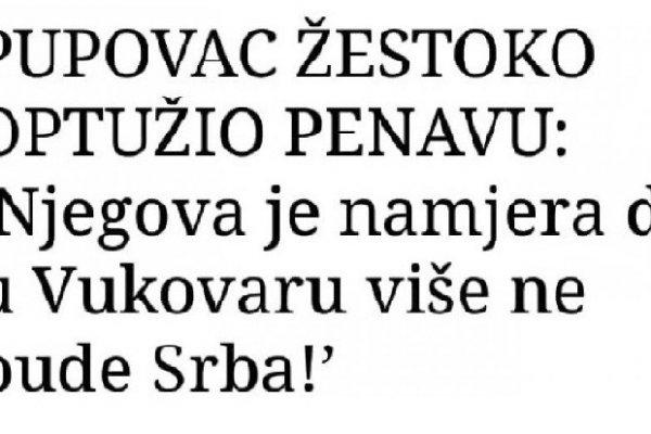 Predrag Mišić poručio Pupovcu; DOK JE TEBE MIRA NEĆE BITI