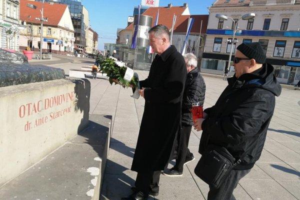 """Udruga """"Dr Ante Starčević"""" u Osijeku obilježila 125. obljetnicu smrti Oca Domovine!"""